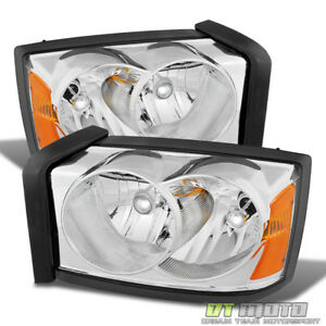 2005 2007 Dodge Dakota Replacement Headlights Headlamps Pair Left Right 05 06 07