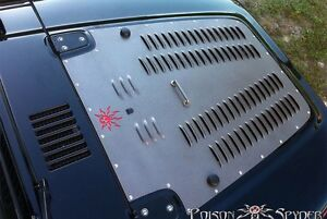 2007 2012 Jeep Wrangler Poison Spyder Customs Hood Louver 17 53 010