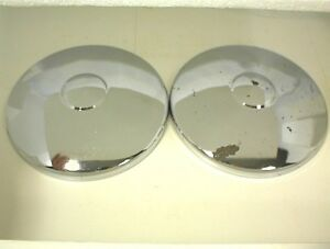 Chrome Steel Hubcaps Dog Dish 1940s 1950s Trailer Camper Car Truck Rod Rod Boat