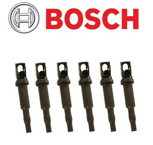 6 Original Bosch Ignition Coil Spark Plug Connector For Bmw 1 3 5 6 7 X3 X5 X6