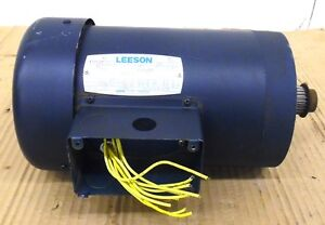 Leeson Electric Motor 115585 00 C6t11fc25a 1 5 Hp 1140 Rpm 208 230 460 Volts