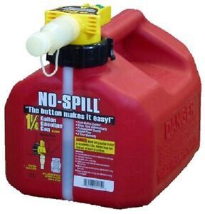 No Spill 1415 1 1 4 Gallon Carb Compliant User Friendly Gas Gasoline Fuel Can