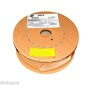 New Esab Mig 6 Welding Wire Spool Weight 45 Lbs Size 0 045 Model 1632c27