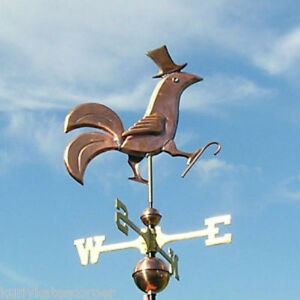 Copper Fancy Dancing Rooster Weathervane Made In Usa 250