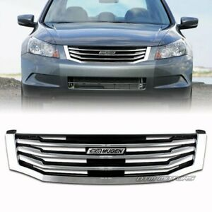 Mug Style Abs Chrome Front Hood Grille W Emblem 2008 2010 Honda Accord Sedan