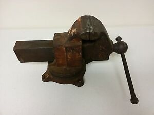Craftman Vise Model 5163 Weighs 72 Pounds 4 1 2 Inch Wide Jaws Swivel Mount