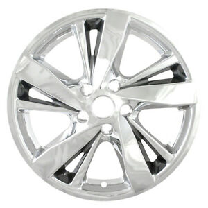 Set Of 4 17 Chrome Charcoal Hubcap Wheelskins For 2013 2015 Nissan Altima