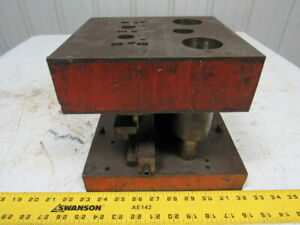 Punch Press Die Set shoe Rectangular Back 2 Post 7 1 2 W 5 Throat