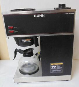 Coffee Brewer Bunn Vpr Black 12 Cup Pour over 2 Warmers 1 Glass Decanter