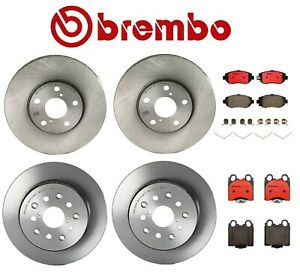 Front Rear For Lexus Gs300 Gs400 Gs430 Is300 Brembo Brake Rotors