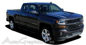 2016 2018 Chevy Silverado Vinyl Graphic Kit Hood Spike Spear Stripe 3m Decal Lat