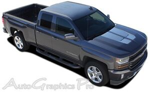 2016 2018 Chevy Silverado Chase Rally Vinyl Graphic Hood Racing Stripe 3m Decal