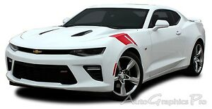 2016 2018 Camaro Ss Rs Hash Marks Vinyl Graphic Hood Decals 3m Racing Stripes