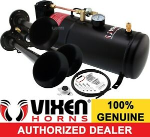 Train Horn Kit For Truck Car Pickup Loud System 1g Air Tank 150psi 3 Trumpets