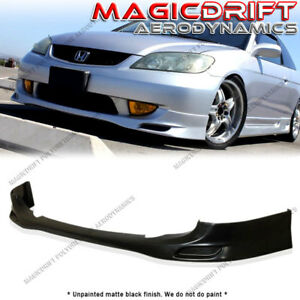 For 04 05 Honda Civic Vip Jdm Style Front Bumper Chin Spoiler Lip Urethane Pu