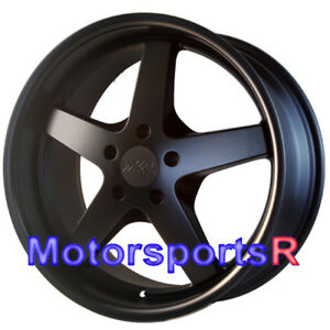 Xxr 968 Wheels 17 X 9 20 Flat Black Rims Deep Lip 5x114 3 Stance Honda Civic Si