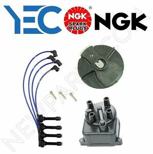 For Acura Integra Honda Distributor Cap Distributor Rotor Spark Plug Wire Ngk
