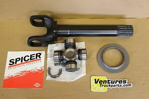 Chromoly Jeep Dana 44 Or Gm Corp 10 Bolt Outer Axle Shaft Slinger And U Joint