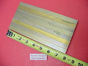 8 Pieces 1 2 x 1 2 C360 Brass Square Bar 8 Long Solid 50 Flat Mill Stock H02
