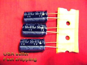 4 Pcs 470uf 50v Electrolytic Capacitors Free Shipping