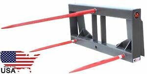 Ua Made The Usa Hd Skid Steer Hay Bale Attachment With 49 Spears