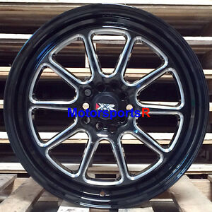 Xxr 557 Wheels 17 X 8 35 Black Lip Mill Windows Rims 5x4 5 06 15 Honda Civic Si