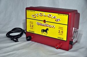 Cyclops Stallion 2 5 Joule Ac Powered Electric Fence Charger Energizer 25 Acre