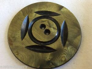 Vintage Art Deco Celluloid Carved Large Button 1 7 8 In Diameter