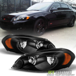 Black 2006 2013 Chevy Impala 06 07 Monte Carlo Replacement Headlights Left Right