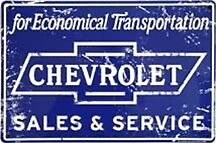 Chevrolet Chevy Sales Service Shop Garage Sign Truck Vintage Collector Antique