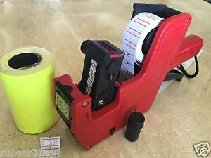Us Seller Mx 5500 8 Digits Price Tag Gun Labeler 2000 Yellow Labels 1 Ink