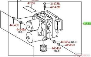 Genuine Toyota Oem New Abs Modulator Camry Hybrid 2007 2011 04003 44830