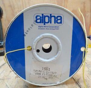 Alpha Wire Corp 1561 22awg Solid Tc 016 41mm Pvc Mw 80c 1000v Spool Of Wire