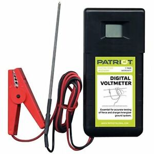Patriot Digital Voltmeter Electric Fence Tester For Fence Charger Energizer