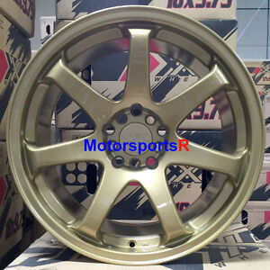 Xxr 551 Wheels 18 X 9 75 22 Gold Concave Rims 5x114 3 15 Mitsubishi Evolution X