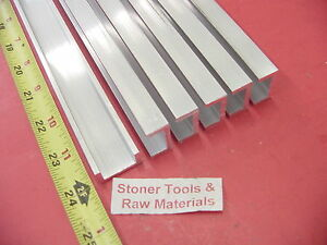 6 Pieces 1 x 1 2 Aluminum Channel 6063 X 1 8 Wall 24 Long T52 Mill Stock 144