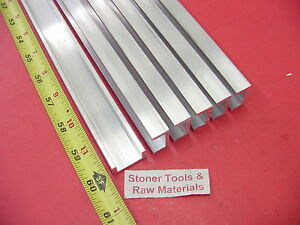 6 Pieces 1 x 1 2 Aluminum Channel 6063 X 1 8 Wall 60 Long T52 Mill Stock 30