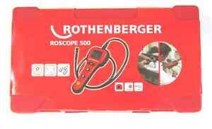 New Rothenberger Roscope 500 Digital Drain Inspection Camera W case