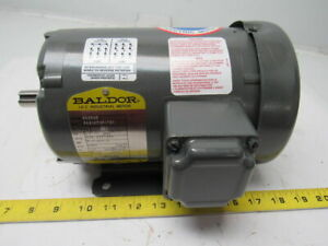 Baldor 34g167w317g1 Mm3545 Electric Motor 0 75 Kw 3450 Rpm 230 460v D80 Frame
