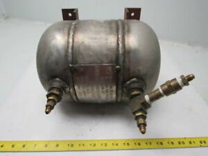 Buckeye Mfg 1 Gallon High Pressure Industrial Stainless Steel Air Tank 800 Psi