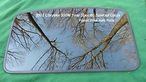 2003 Chrysler 300m Year Specific Sunroof Glass Panel Oem Free Shipping