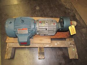 Reliance Electric Motor W forced Control Clutch brake And Flex in line Reducer