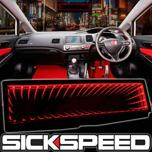 Sickspeed Galaxy Mirror Led Light Clip On Rear View Wink Rearview Red P2