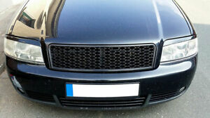 Audi A6 C5 4b Rs Style Badgeless Euro Front Sport Hex Mesh Grill S Line Rs6 01 4