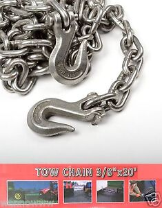 3 8 X 20ft Tow Chain Automotive Truck Towing Log Chain