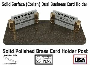 Handmade Dual Business Card Holder Personalized Engraving Included bch117