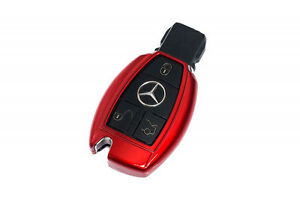 Mercedes Benz Red Remote Key Cover Case Skin Shell Cap Fob Protection Start Abs