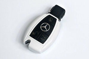 Mercedes Benz White Remote Key Cover Case Skin Shell Cap Fob Protection Start