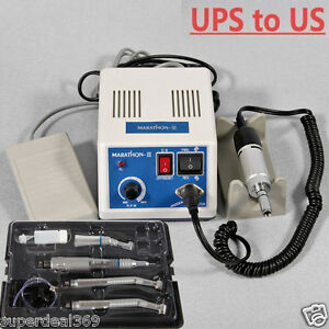 Dental Lab Marathon Polisher Electric Micromotor Nsk Style High Low Speed Kit
