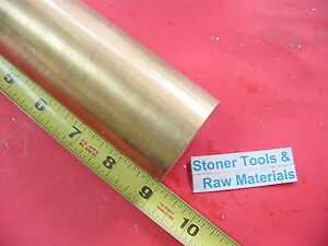1 3 4 C360 Brass Round Rod 9 Long Solid 1 75 Diameter H02 Lathe Bar Stock